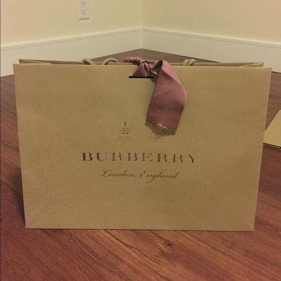 Burberry Handbags - Burberry London shopping paper bag